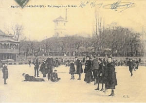 Patinage sur le lac en 1909
