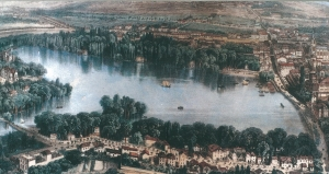 Enghien-les-Bains - Panoramic view on the lake